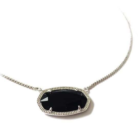 Kendra Scott Brand New Kendra Scott Delaney Gold Necklace in Opaque Black Glass Image 3