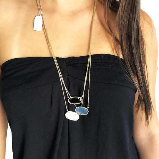 Kendra Scott Brand New Kendra Scott Delaney Gold Necklace in Opaque Black Glass Image 4
