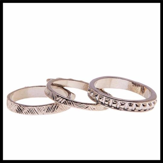 Boutique SILVER MULTI STACKED STATEMENT RING SET Image 3