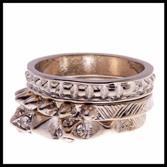 Boutique SILVER MULTI STACKED STATEMENT RING SET Image 5