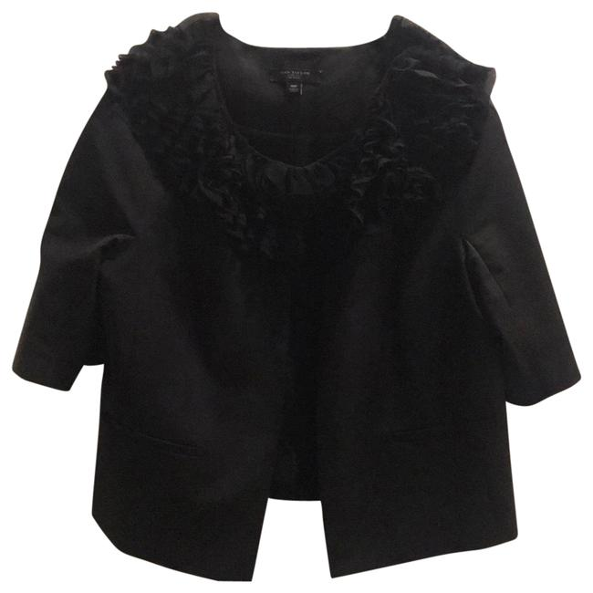 Item - Black Ruffle Jacket Pant Suit Size Petite 10 (M)