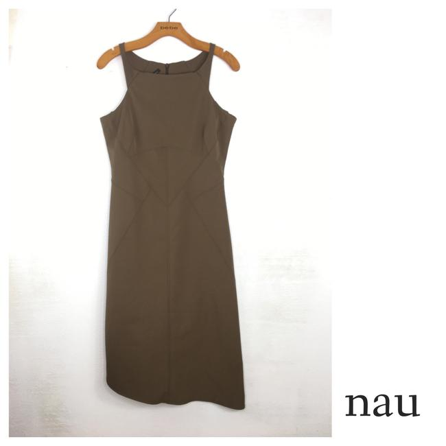 Preload https://img-static.tradesy.com/item/25241627/brown-recycled-fitted-mid-length-short-casual-dress-size-6-s-0-0-650-650.jpg