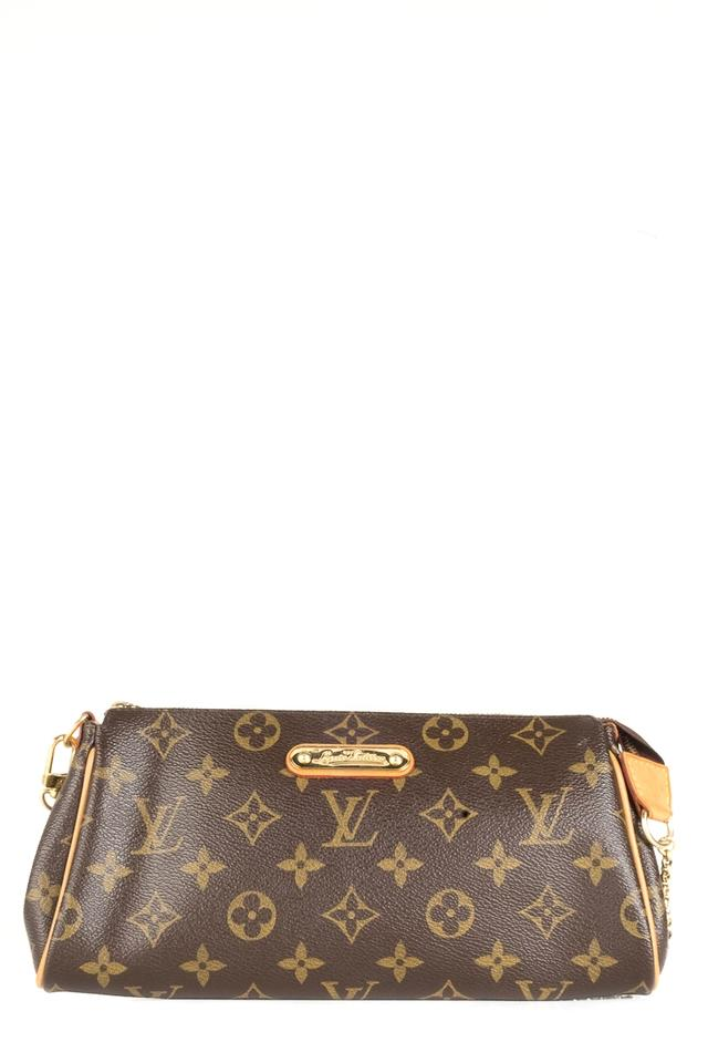 92193c28b Louis Vuitton Eva Monogram Clutch Brown Leather Shoulder Bag - Tradesy