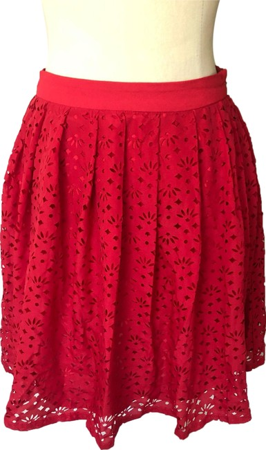 Preload https://img-static.tradesy.com/item/25241754/urban-outfitters-red-laser-cut-skirt-size-2-xs-26-0-1-650-650.jpg