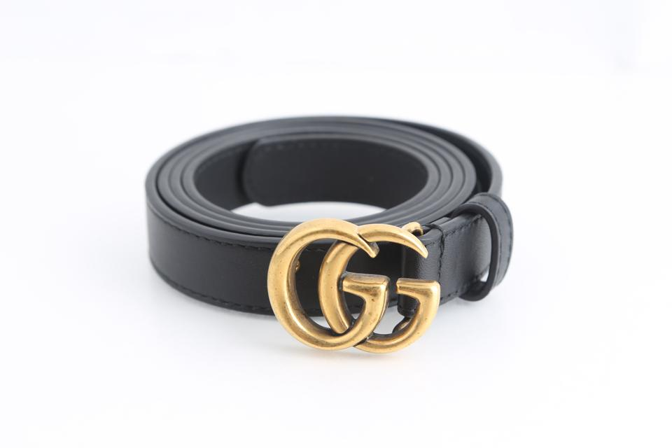 e2689cd5dc8 Gucci Gucci Leather belt with Double G buckle Image 0 ...