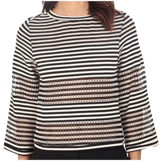 Preload https://img-static.tradesy.com/item/25241799/nicole-miller-black-and-off-white-artelier-striped-cropped-blouse-size-4-s-0-1-650-650.jpg