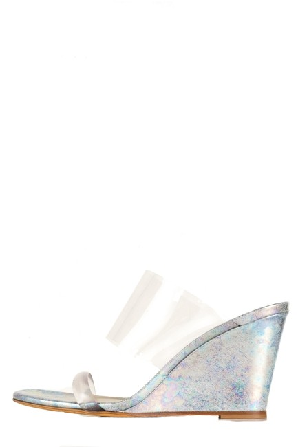 Item - Clear Pvc Olpymia Wedges Size EU 37.5 (Approx. US 7.5) Regular (M, B)
