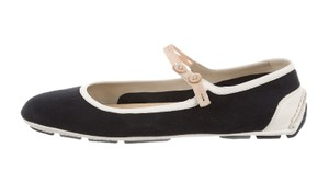Prada Black White Cream Sandals