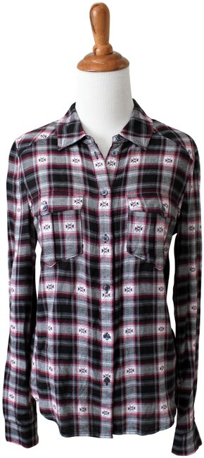 Preload https://img-static.tradesy.com/item/25242082/paige-black-grey-pink-mya-western-plaid-shirt-button-down-top-size-2-xs-0-1-650-650.jpg