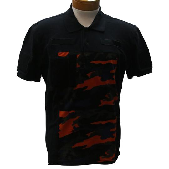 Givenchy Black L Camouflage Velcro Patch Polo Size Shirt Image 1