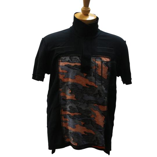 Givenchy Black L Camouflage Velcro Patch Polo Size Shirt Image 3