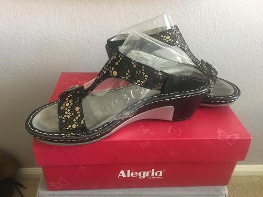 Alegria by PG Lite Pewter Mosaic Sandals Image 1