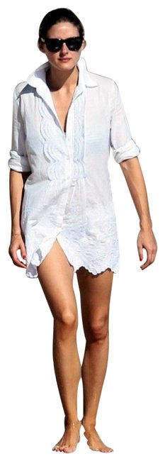 Preload https://img-static.tradesy.com/item/25242206/bird-white-button-down-tunic-short-casual-dress-size-2-xs-0-1-650-650.jpg
