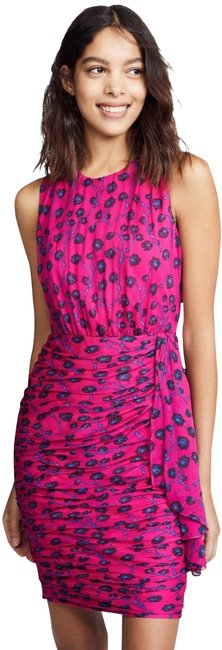 Item - Multi with Tag Silk Pink Micah Ruched Blouson Mid-length Cocktail Dress Size 4 (S)