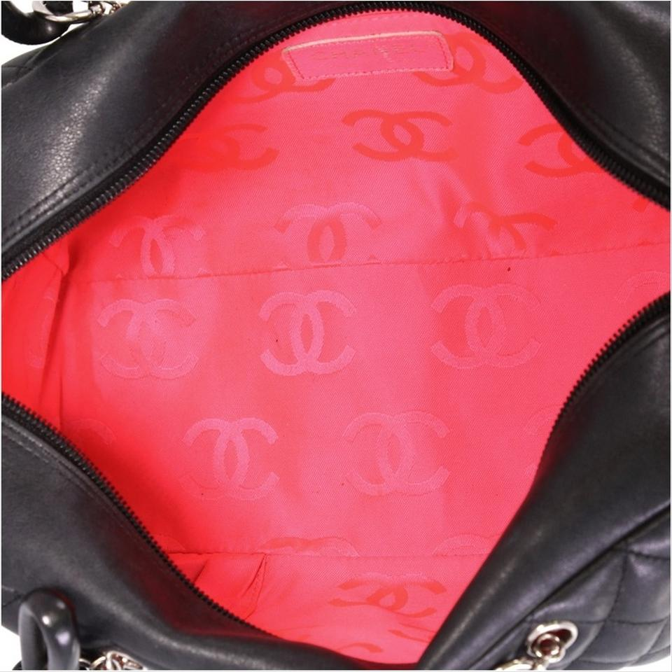 09944e859b Chanel Cambon Bowler Quilted Medium Black Leather Tote - Tradesy