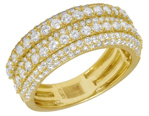 Jewelry Unlimited Men's 10K Yellow Gold Real Diamond Wedding Band Ring 2.60 CT 10MM