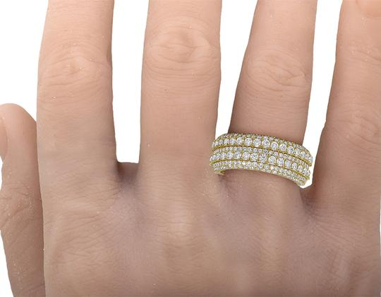 Jewelry Unlimited Men's 10K Yellow Gold Real Diamond Wedding Band Ring 2.60 CT 10MM Image 2