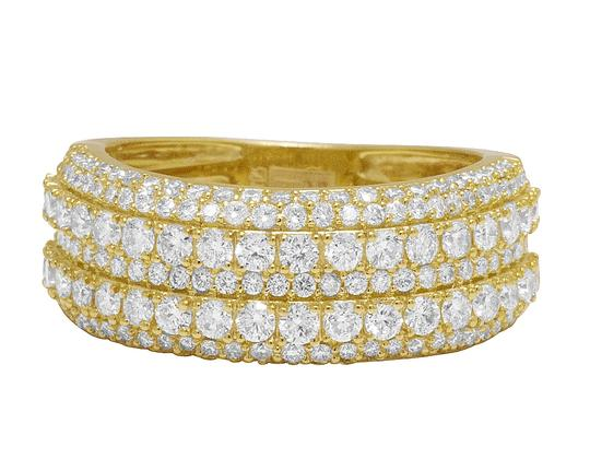 Jewelry Unlimited Men's 10K Yellow Gold Real Diamond Wedding Band Ring 2.60 CT 10MM Image 3