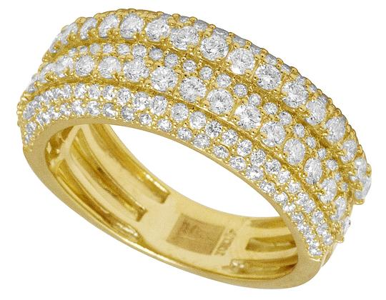 Jewelry Unlimited Men's 10K Yellow Gold Real Diamond Wedding Band Ring 2.60 CT 10MM Image 4
