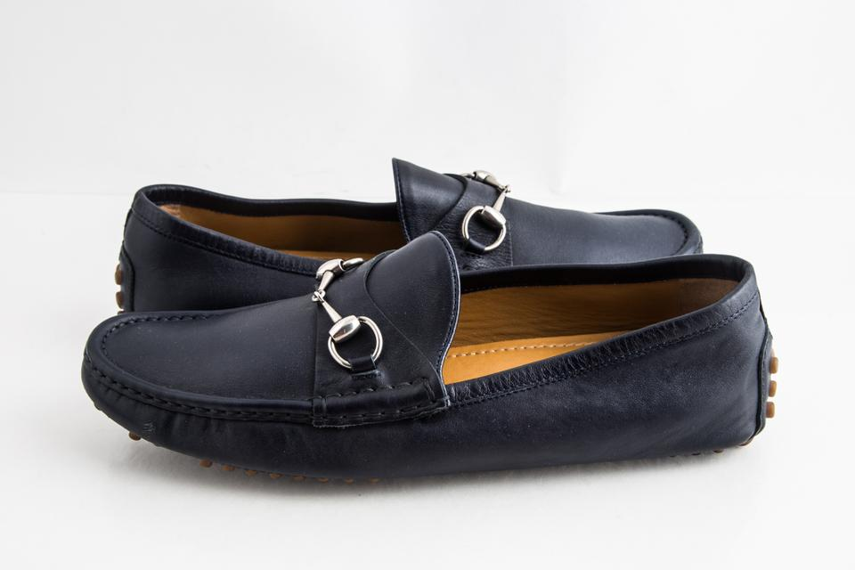 bee3fb26fb14 Gucci Blue Driver Loafer with Buckle Shoes Image 0 ...