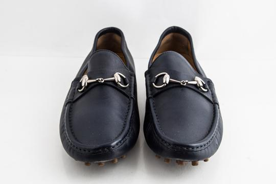 Gucci Blue Driver Loafer with Buckle Shoes Image 1