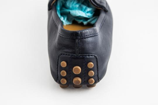 Gucci Blue Driver Loafer with Buckle Shoes Image 10