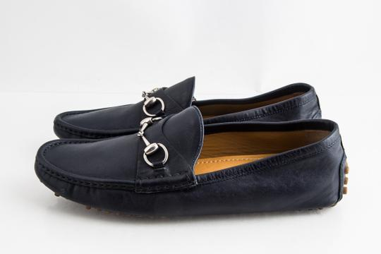 Gucci Blue Driver Loafer with Buckle Shoes Image 2