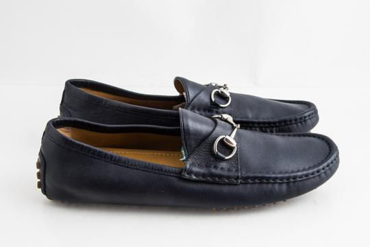 Gucci Blue Driver Loafer with Buckle Shoes Image 3