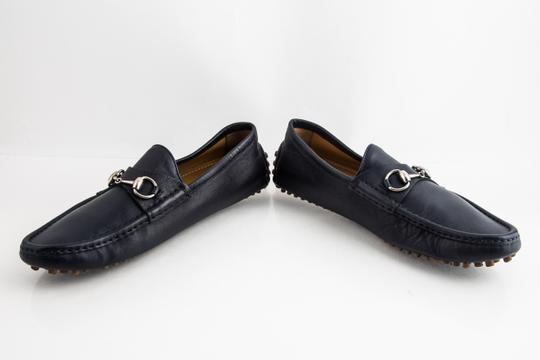 Gucci Blue Driver Loafer with Buckle Shoes Image 5