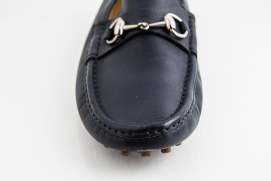 Gucci Blue Driver Loafer with Buckle Shoes Image 7