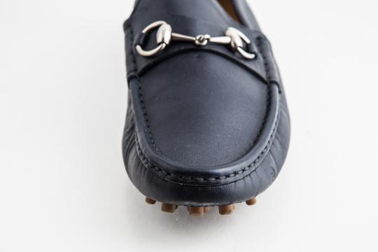 Gucci Blue Driver Loafer with Buckle Shoes Image 8