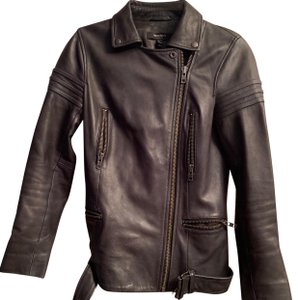 Muubaa black Leather Jacket