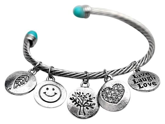 Preload https://img-static.tradesy.com/item/25242350/silver-alloy-twisted-cuff-bangles-with-imitation-stone-vintage-gold-and-silver-round-smile-love-mood-0-1-540-540.jpg