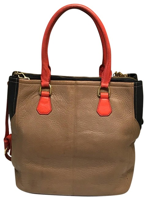 Item - Biennial Color Block Padded Multi-color Leather Tote
