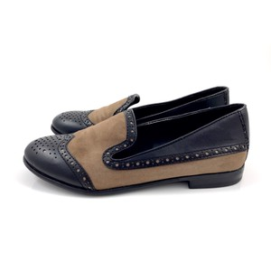 1c8affbd89a Franco Sarto Black and Tan Flats