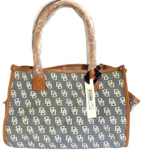 Dooney & Bourke Tote in Blue/Brown