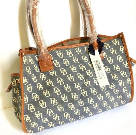 Dooney & Bourke Tote in Blue/Brown Image 1