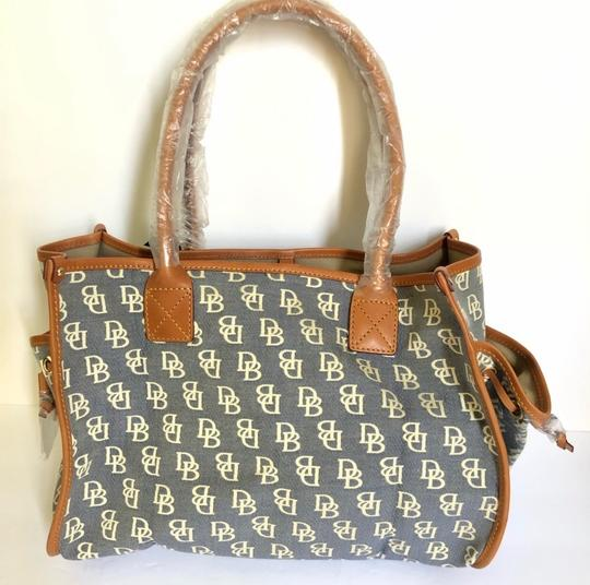 Dooney & Bourke Tote in Blue/Brown Image 2