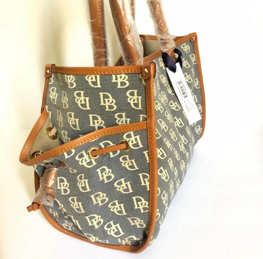 Dooney & Bourke Tote in Blue/Brown Image 4