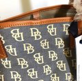 Dooney & Bourke Tote in Blue/Brown Image 6