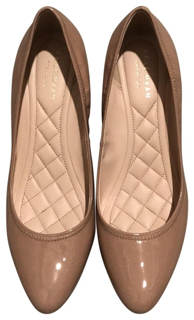 Item - Nude Patent Emory Luxe Wedges Size US 7.5 Regular (M, B)