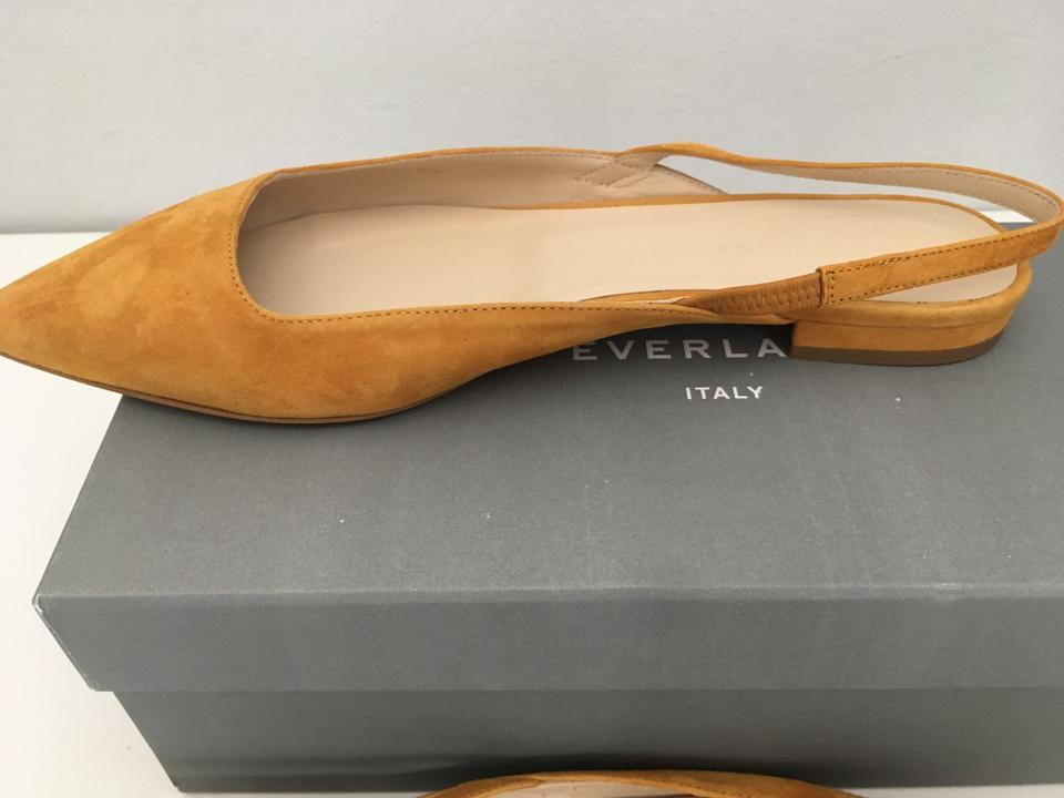 b71f1095d Everlane Slingback Yellow Pointed Toe Leather Mustard Flats Image 4. 12345