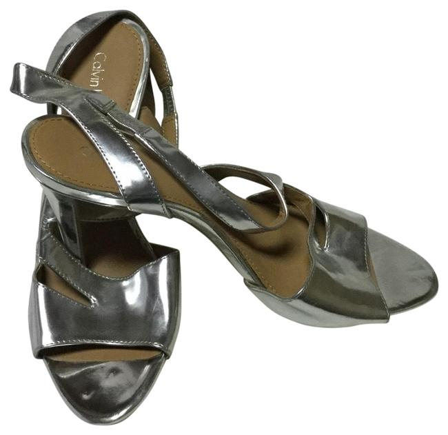 Item - Silver Slingback Dress Sandals Size US 8 Regular (M, B)