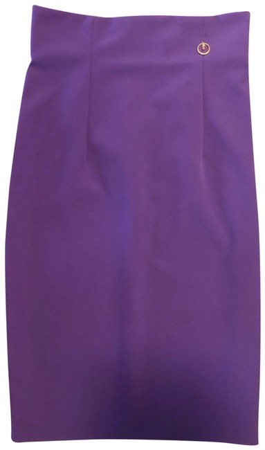 Item - Purple Fitted Straight Pencil 42 Us 4 Skirt Size 6 (S, 28)