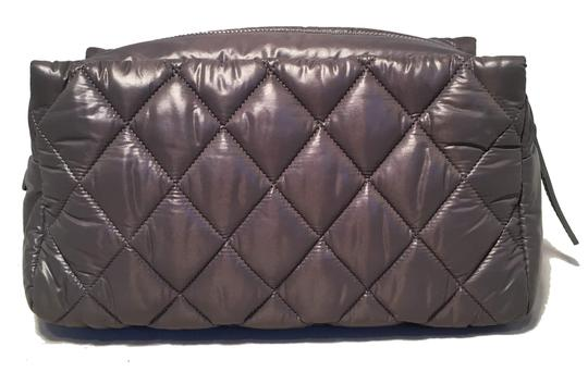 Chanel Chanel Grey Quilted Nylon Travel Accessories Cosmetic Pouch Image 1