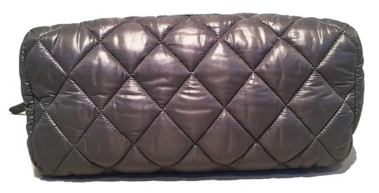 Chanel Chanel Grey Quilted Nylon Travel Accessories Cosmetic Pouch Image 3