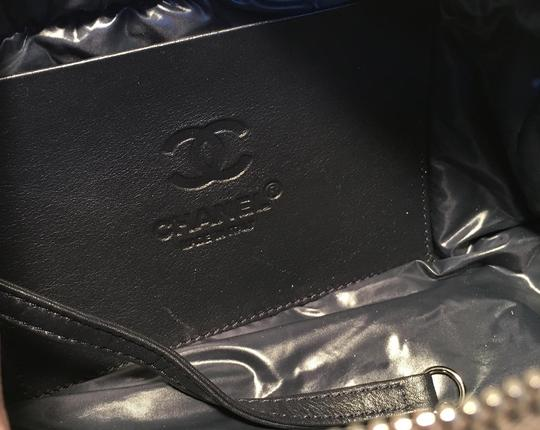 Chanel Chanel Grey Quilted Nylon Travel Accessories Cosmetic Pouch Image 7