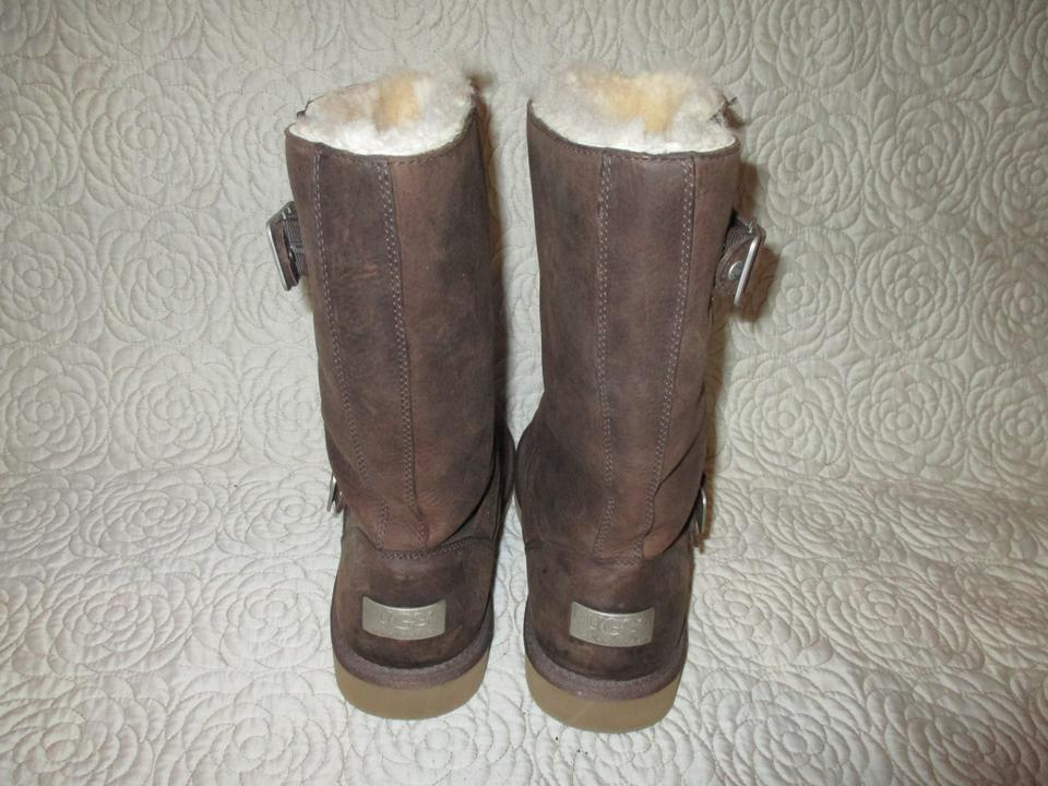 f252f719514 UGG Australia Brown Kensington Leather Sheepskin #5678 Boots/Booties Size  US 8 Regular (M, B) 60% off retail