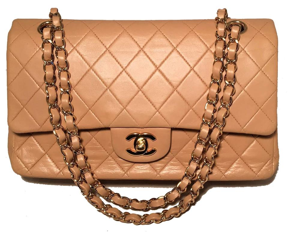 1d15ed459323 Chanel 2.55 Reissue Double Flap Vintage 10 Inch Classic Tan Leather ...