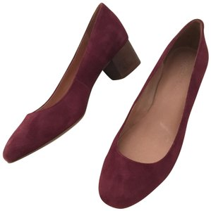 Madewell Suede Red Pumps